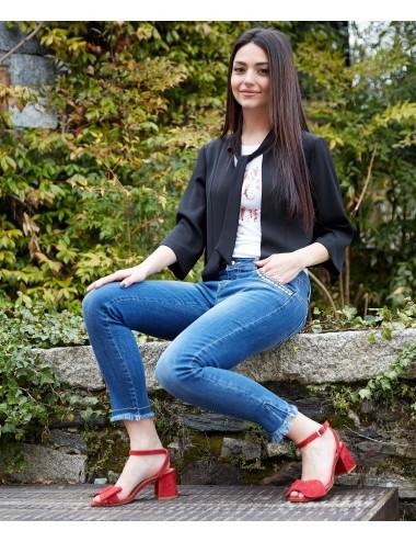 Jeans Donna Con Borchie
