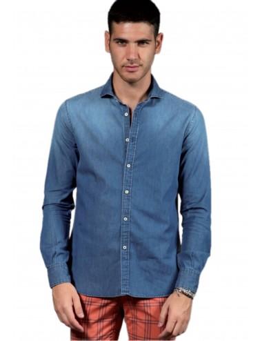 Camicia Uomo Jeans 100%...