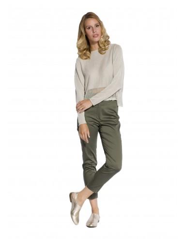 Pantalone Donna Con Strass...