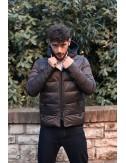 Piumino Uomo Double-Face Con Cappuccio
